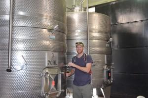Arlen at the barrel