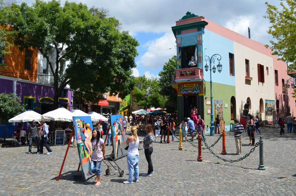 Barrio La Boca, where tango originated.