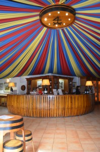 The wine tasting room, or circus tent?