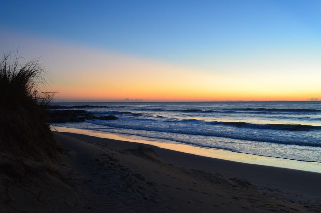 Beginning of the sunrise